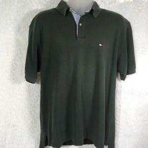 Tommy Hilfiger Polo Golf Shirt Size large. Green
